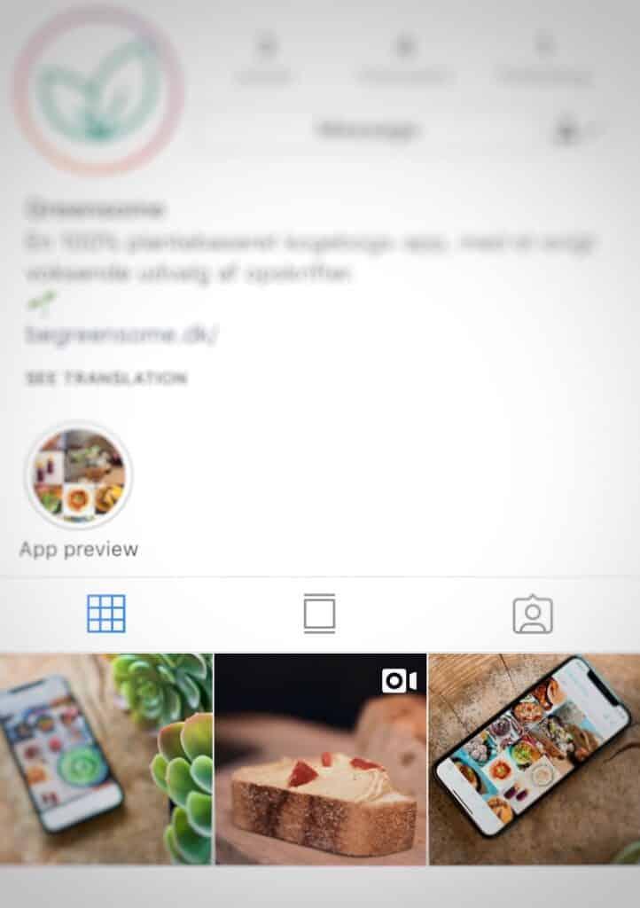 Eksempel på tester instagram support pakke TRIBE Media